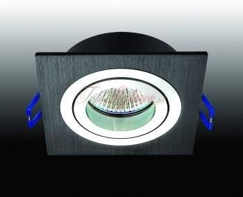 Oprawa regulowana kwadrat czarna odlew aluminiowy LED 230V 3,5W OK9-CZ-R