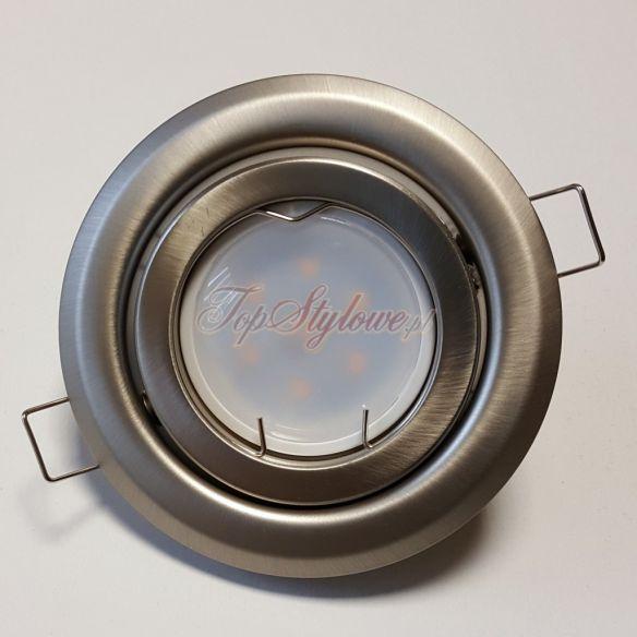 Oprawa do podbitek dachowych regulowana okrągła 10,2cm srebrna blaszana z żarówką LED 230 V - 3,5 W OO-SBL9-R