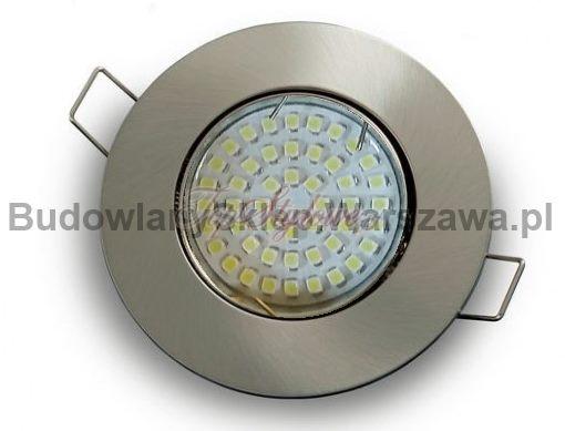 Oprawa do podbitki dachowej satyna-mat okrągła ruch. odlew aluminiowy LED 230V-GU10 - 3,5V ciepła/zimna OO9-SM-R