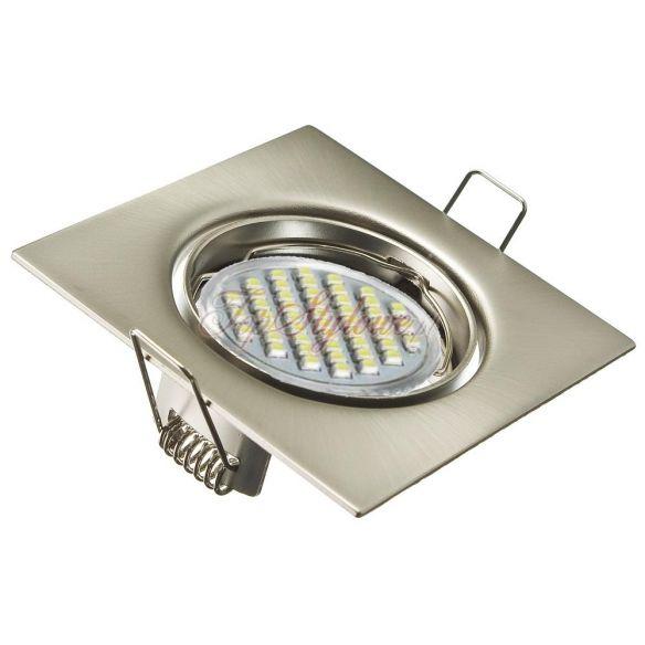 Oprawa do podbitki dachowej kwadrat 8,2cm kwadrat srebrna matowa - odlew aluminiowy LED 230 V - 3,4 W OK8-SM-R