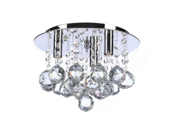Bolla 25 lampa sufitowa z kryształkami AZ1285/1671-3X-CL  Azzardo
