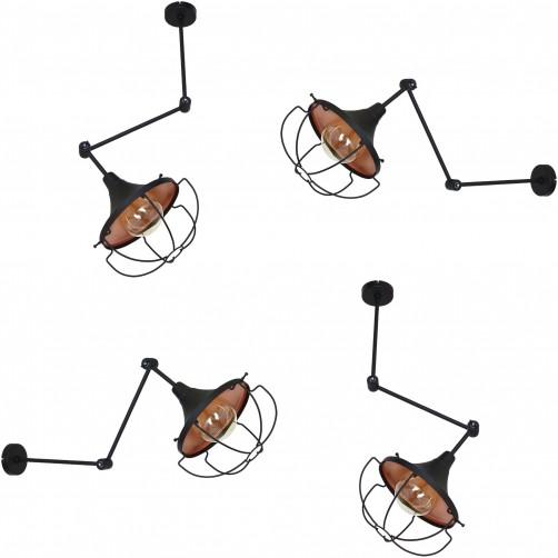 Danton II kinkiet łamany/lampa sufitowa 902C1/1 Aldex