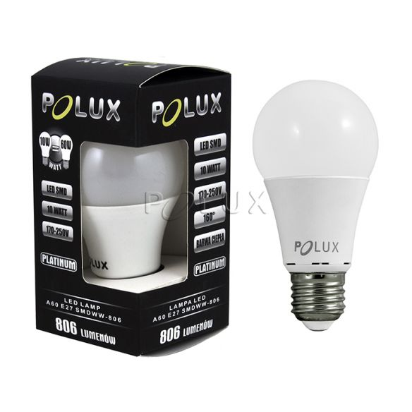 Żarówka LED A60 E27 810lm, 9W, 3000K 301024 Polux