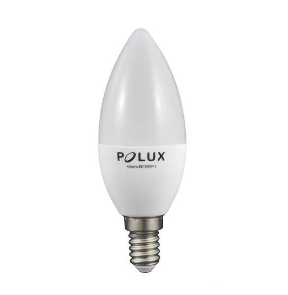 Żarówka LED C37 E14 560lm, 6.3W, 3000K 303912 Polux