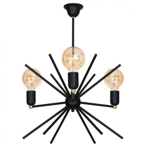 Astra I black minimalistyczny żyrandol 938E/1 Aldex