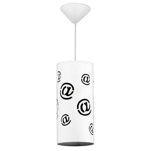 Mail lampa wisząca 703G/M white, 703G/1/M black Aldex