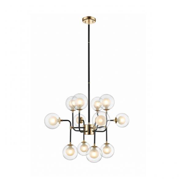 Riano nowoczesny żyrandol, lampa wisząca P0454-08D-SDAC Zuma Line