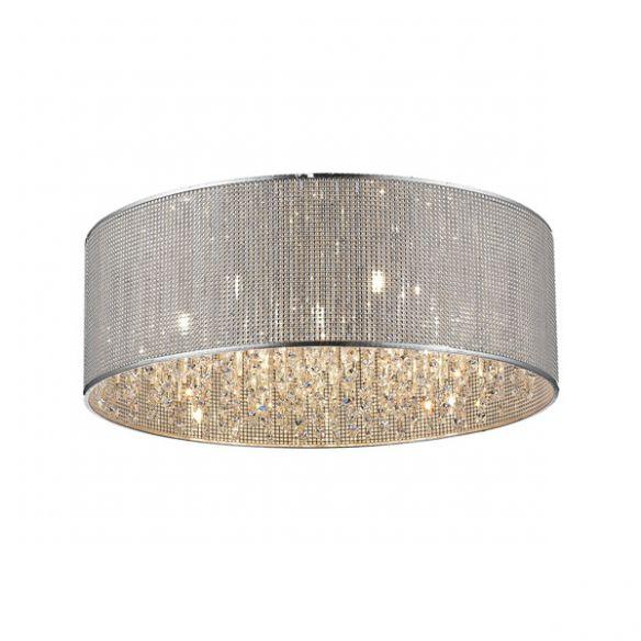 Blink lampa sufitowa/plafon z kryształami i srebrnym abażurem P0173-07W ZUMA LINE
