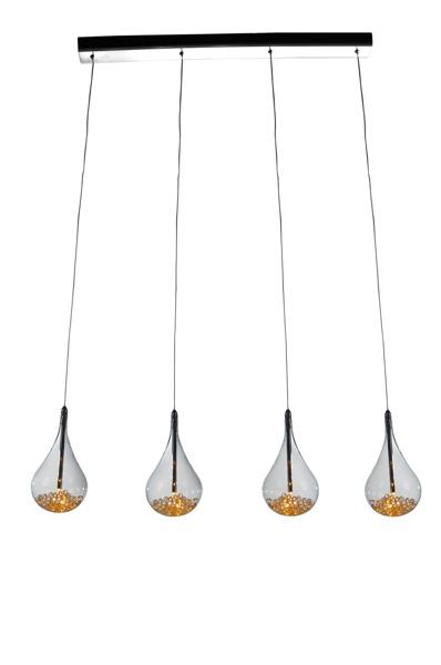 Perle designerska lampa wisząca kropla P0226-04H-B5RK (listwa) Zuma Line