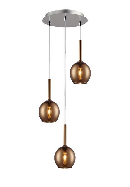 Monic  nowoczesna lampa wisząca koło MD1629-3B  (copper) Zuma Line