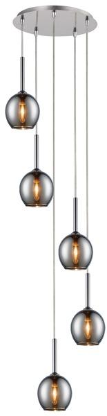 Monic  nowoczesna lampa wisząca koło MD1629-5B  (chrome) Zuma Line