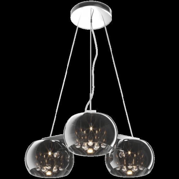 Crystal lampa wisząca szkło platerowane P0076-03R-F4FZ trójkąt Zuma Line