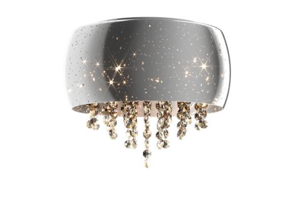 Vista lampa sufitowa/plafon  z kryształkami C0076-05K (SILVER) Zuma Line