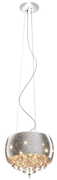 Vista lampa wisząca z kryształkami P0076-06K (SILVER) Zuma Line