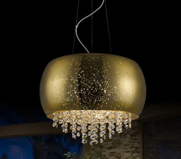 Vista lampa wisząca z kryształkami P0076-06K-F4GQ (gold) Zuma Line