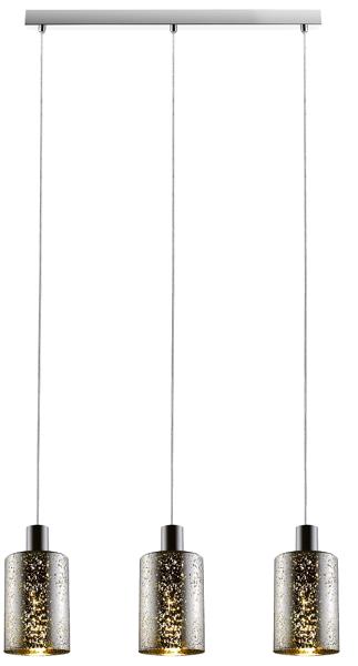 Pioli nowoczesna lampa wisząca potrójna P0369-03A-B5GR (silver with dots) Zuma Line