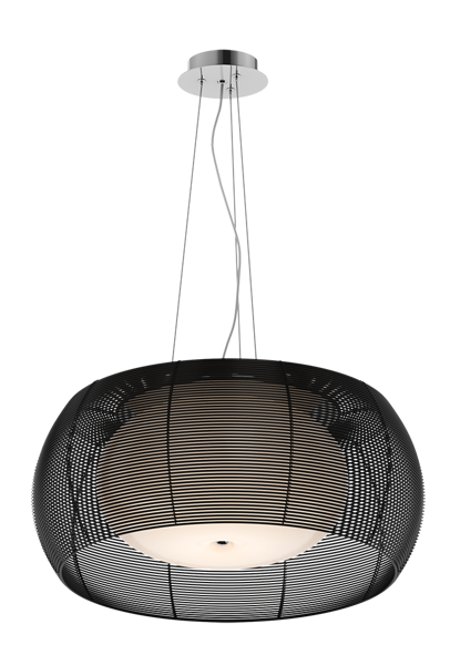 Tango nowoczesna lampa wisząca podwójny klosz MD1104-2L (BLACK) Zuma Line
