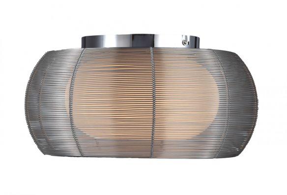 Tango nowoczesna lampa sufitowa/plafon podwójny klosz MX1104-2L (SILVER) Zuma Line