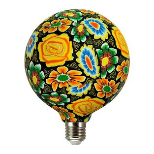 360° Żarówka dekoracyjna FOLK MIX LED G125 E27, 4W, 1900K 311313