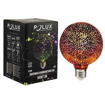 360° Żarówka dekoracyjna LED efekt 3D G95, 3,5W 308856