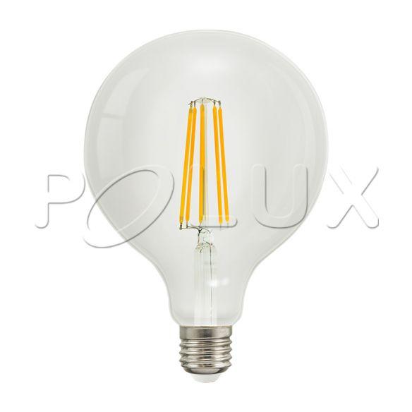 360° Żarówka dekoracyjna LED G125 E27 1250lm, 8W, 3000K Filament 308597