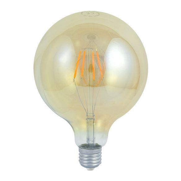 360° Żarówka dekoracyjna LED G125 Vintage Amber E27 320lm, 4W, 2000K 304544