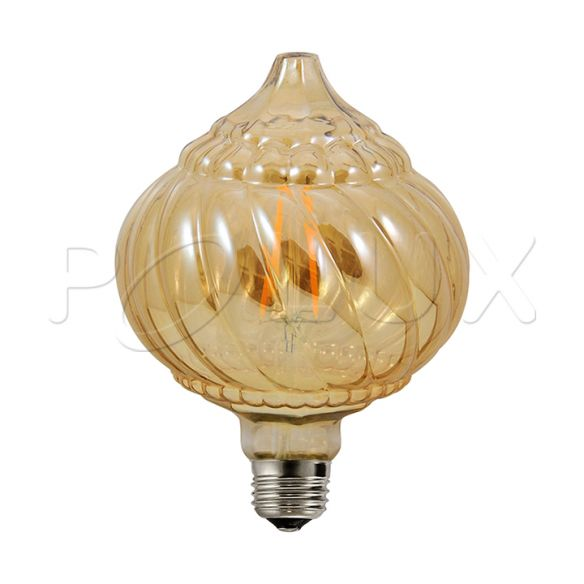 360° Żarówka dekoracyjna LED Vintage Amber BC125 E27 450lm, 4W, 2700K 308986