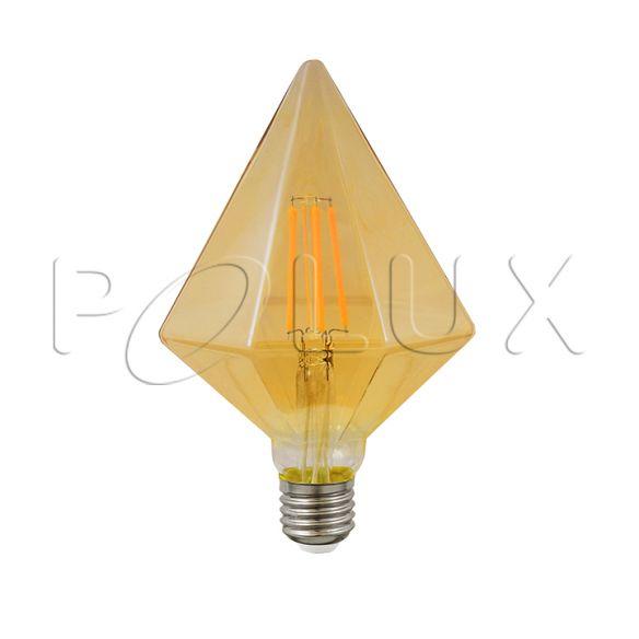 360° Żarówka dekoracyjna LED Vintage Amber DIAMOND B Z110 E27 450lm 4W, 2700K 308870