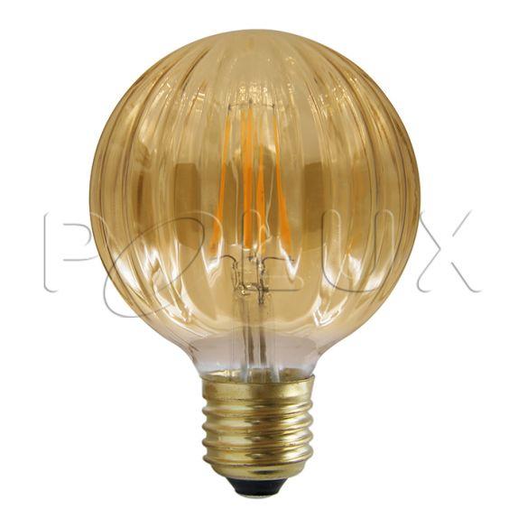 360° Żarówka dekoracyjna LED Vintage Amber G100 E27 450lm, 4W, 2700K 308887