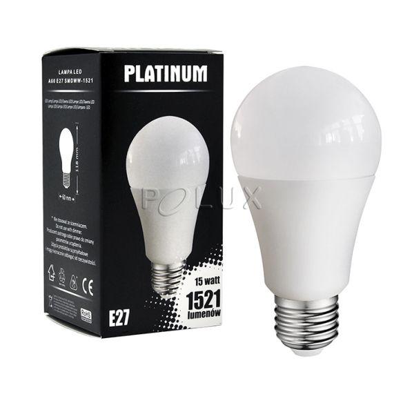 A60 E27 1521lm, 15W, 3000K Żarówka LED Polux 305695