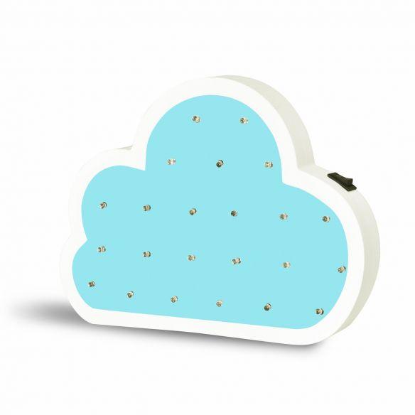 Drewniana lampka dekoracyjna LED CHMURKA 310675 Polux