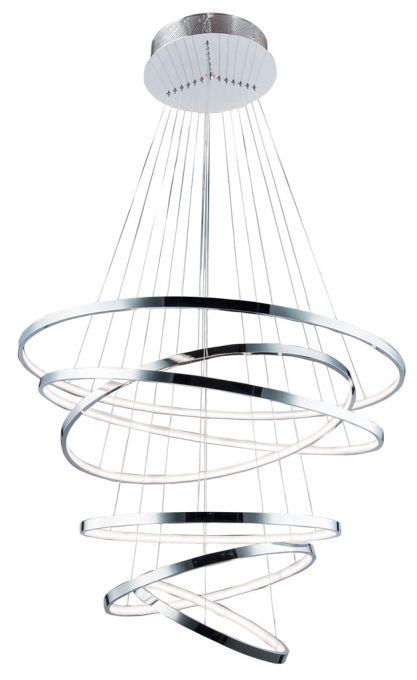 WHEEL 6 Dimm nowoczesna lampa wisząca LED AZ2990 chrome
