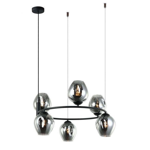Roxane MDM-4045-6 BK+SG lampa wisząca Italux