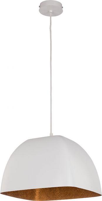 Alwa L 30775 biały/miedź kwadratowa lampa wisząca Sigma