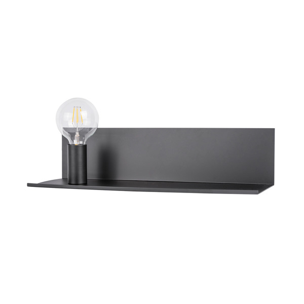 Shelf CS-W088L-M black, white kinkiet  z półką Zuma Line