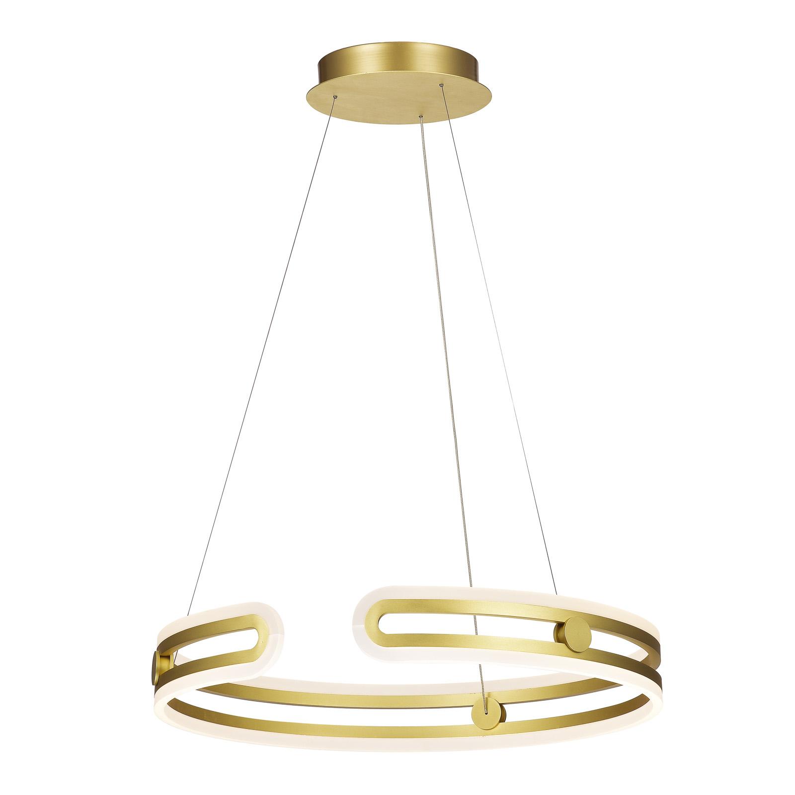 Kiara MD17016002 1E GOLD nowoczesna lampa wisząca LED Italux