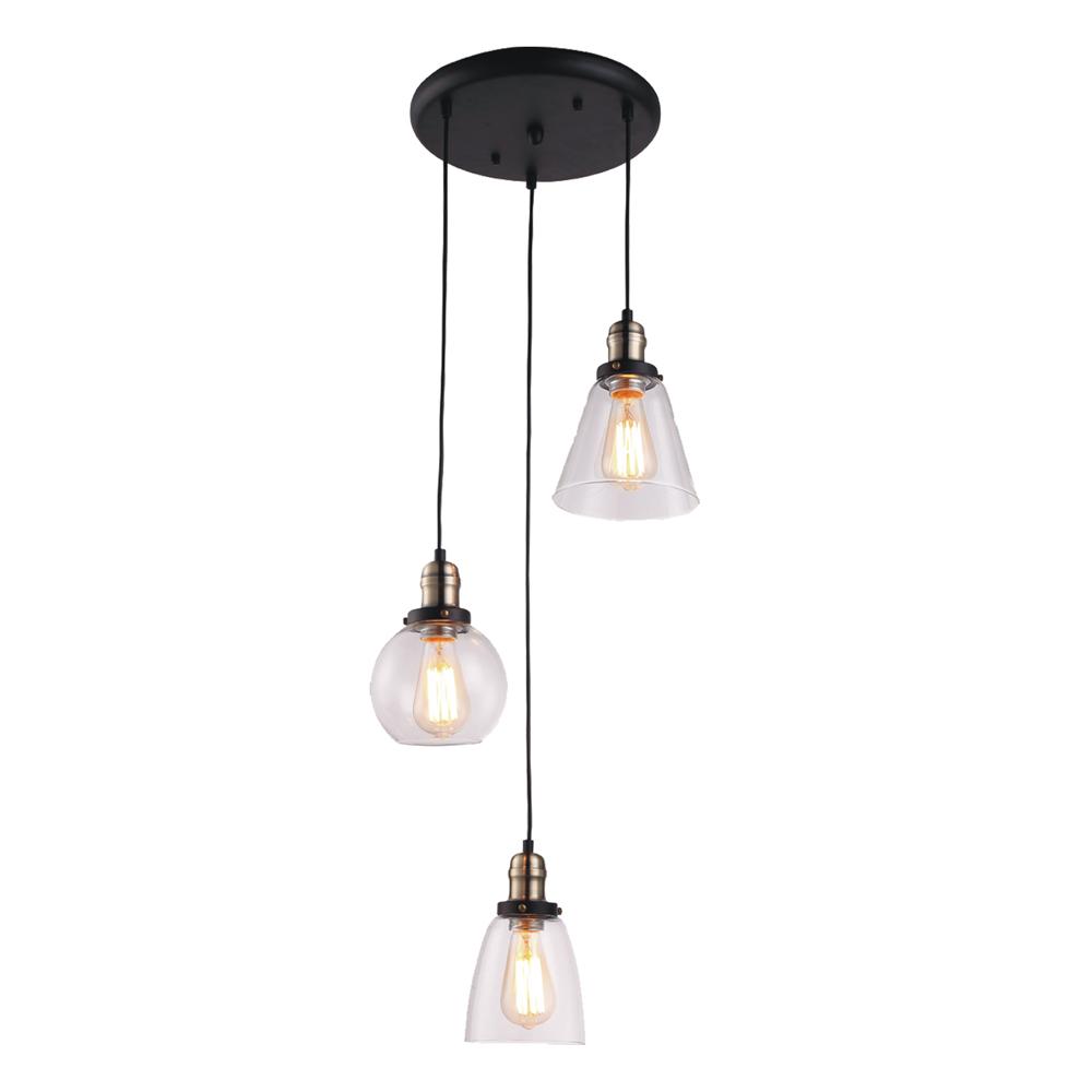 Samanta K 8036b 3 Lampa Wisząca Kaja Oświetlenie Wewnętrzne